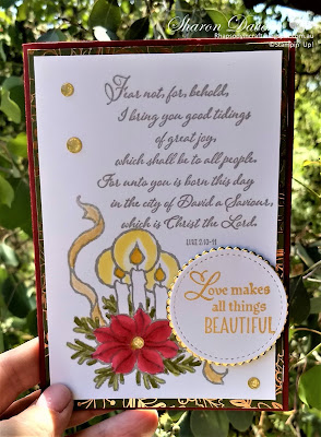 God's Peace, Brightly Gleaming DPS, Stitched shaped framelits, 2019 holiday catalogue, #loveitchopit, Rhapsody in craft, Stampin' Up, Christmas cards
