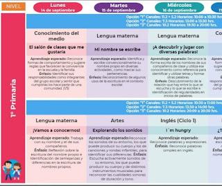 Semana 11 Aprendizajes Esperados del 3 al 6 de noviembre