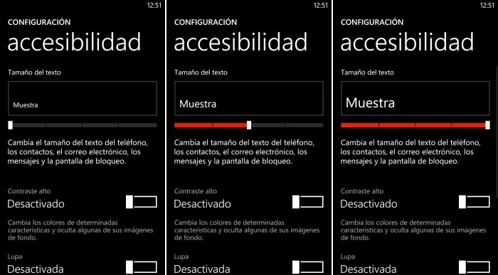 accesibilidad windows phone