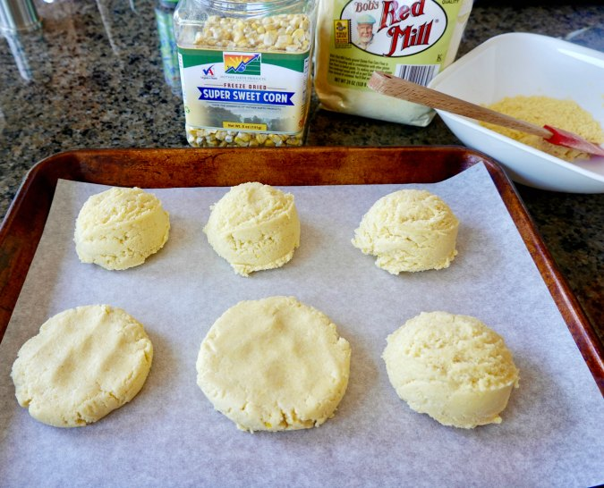 Sweet corn cookie dough