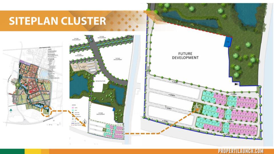 Site Plan Cluster Dayana Summarecon Bandung