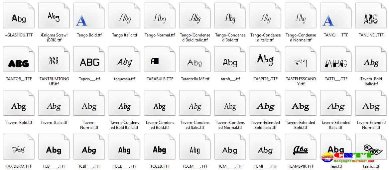 Tải hơn 8000 Font Việt hóa đẹp dành cho dân thiết kế Photoshop, Corel...