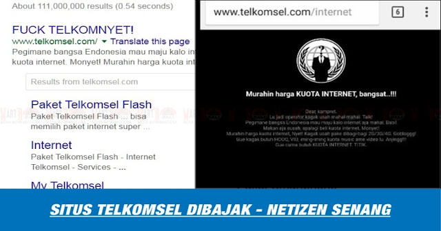 Tarif Terlalu Mahal, Situs Telkomsel DiBajak Hacker - Ini Komentar Netizen