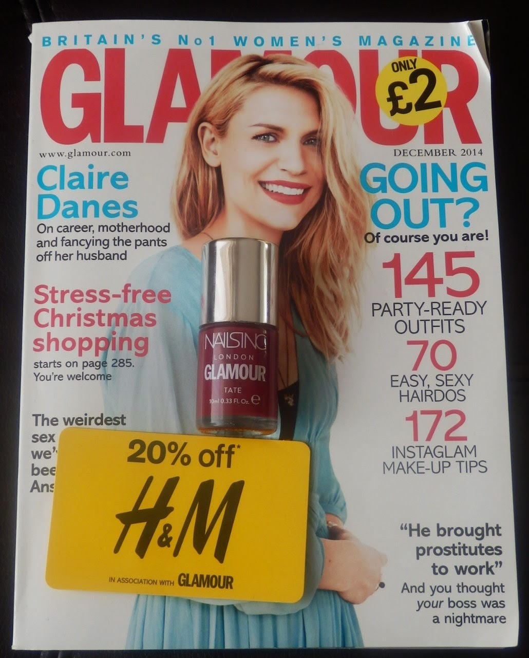 Glamour Magazine Nails Inc & The Body Shop Freebies
