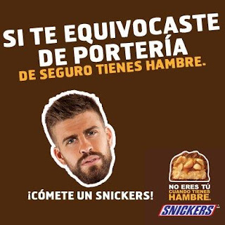 Snickers Gerard Piqué Champions League Advertising Creatividad