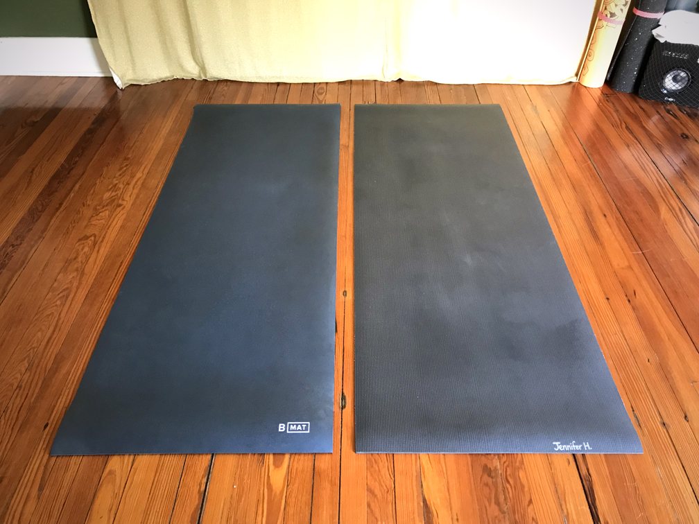The Great Yoga Mat Bake Off Bmat Vs Manduka Black Mat Pro Jen Tech Yoga