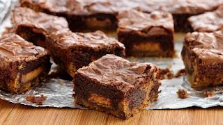 Brownie com Pasta de amendoim