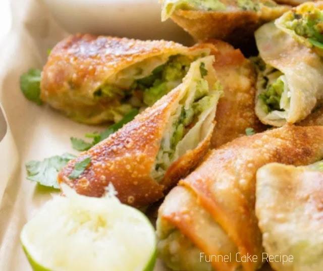 Avocado Egg Rolls With Vegan Cilantro Ranch