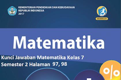 Kunci Jawaban Uji Kompetensi 6  Matematika Kelas 7 Semester 2 Halaman 97, 98