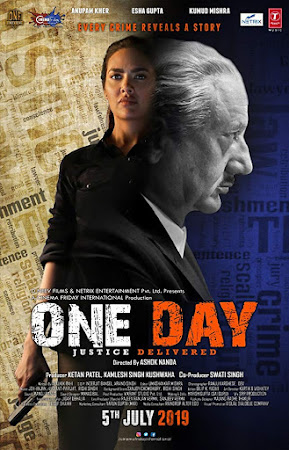 Poster Of Hindi Movie One Day 2019 Full HD Movie Free Download 720P Watch Online