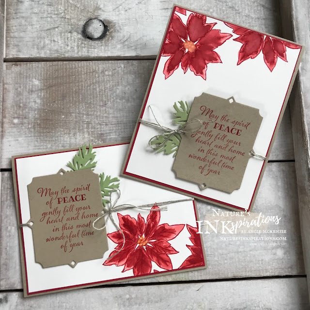 By Angie McKenzie for Ink and Inspiration Blog Hop; Click READ or VISIT to go to my blog for details! Featuring the amazing NEW Poinsettia Petals Photopolymer Stamp Set from the August-December 2020 Mini Catalog along with the Peaceful Boughs Cling Stamp Set and coordinating Beautiful Boughs Dies from the 2020-21 Annual Catalog; #poinsettiapetalsstampset #augustdecember2020minicatalog #peacefulboughsstampset #beautifulboughsdies #linenthread #waterpainters #20202021annualcatalog #bloghops #inkandinspirationbloghop #stampinup #cardtechniques #christmasinjuly #christmascards #naturesinkspirations