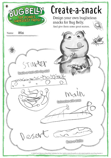 A4 bug snacks poster created by a bug belly reader