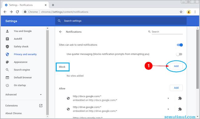 cara menghapus notifikasi di google chrome