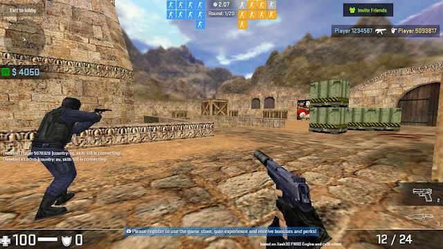 Main Counter Striket Menggunakan Browser Sahaja!