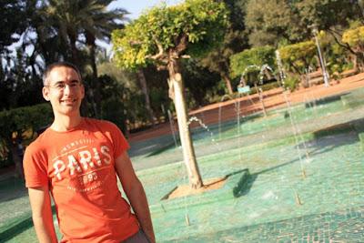 Fuente en el Cyber Park Moulay Abdessalam de Marrakech