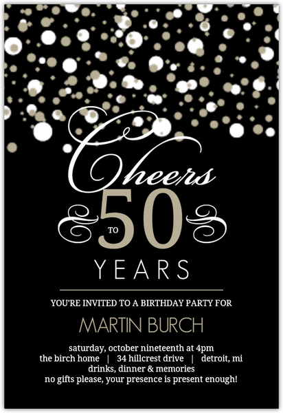 50th Birthday Celebration Invitation