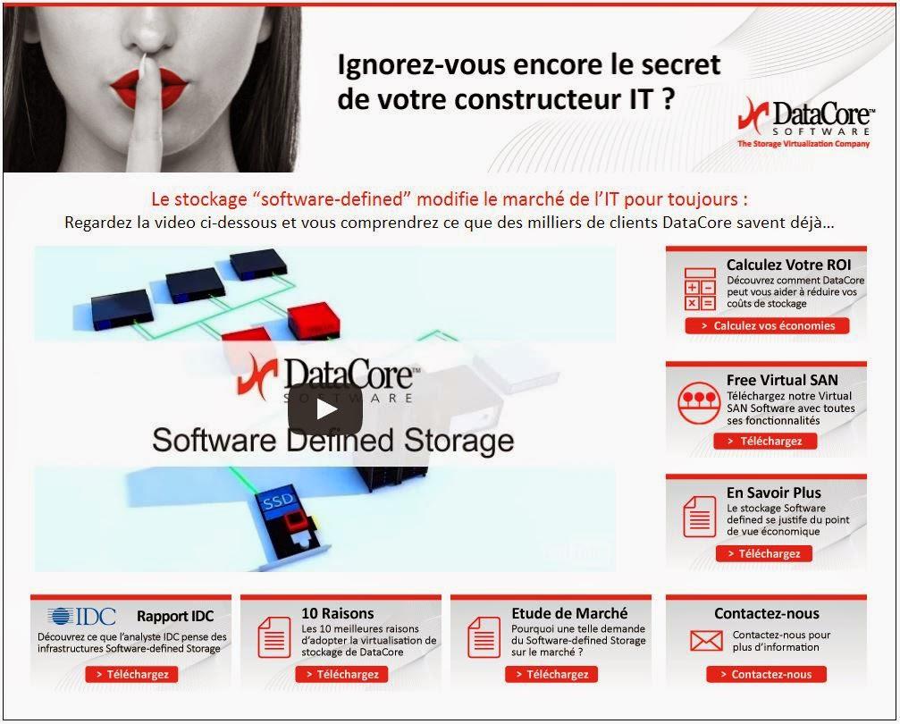 Ignorez vous encore le secret de votre constructeur IT? Le stockage ;Software defined ; ;