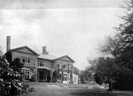 Photograph of The main house on Leggatts Estate - image from the Leggatts Estate auction brochure 1911