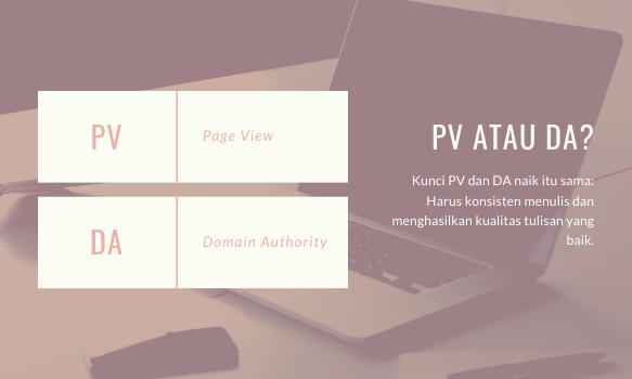 PV dan DA blog