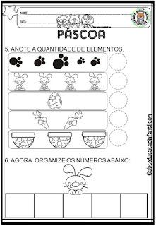Atividades de Páscoa para Educação Infantil - Matemática