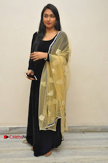 Actress Grace Myrtle Pos in Black Anarkali Dress at Beep Short Film Press Meet  0011.jpg
