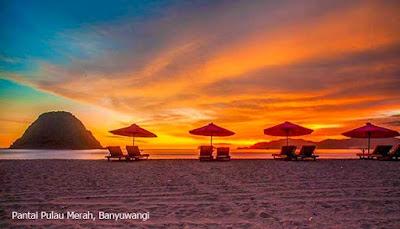 Red Island Beach, Banyuwangi