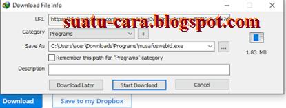 Cara Mudah Download File di DropBox dengan IDM