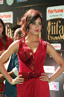 Videesha in Spicy Floor Length Red Sleeveless Gown at IIFA Utsavam Awards 2017  Day 2  Exclusive 14.JPG