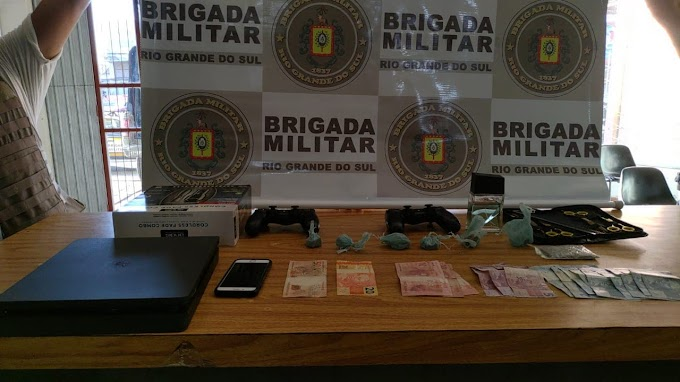 Homem é preso por tráfico de drogas no bairro Santa Cruz em Gravataí