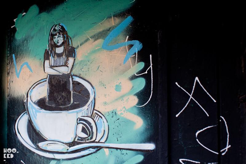 Alice Pasquini - London Street Art on Brick Lane, London