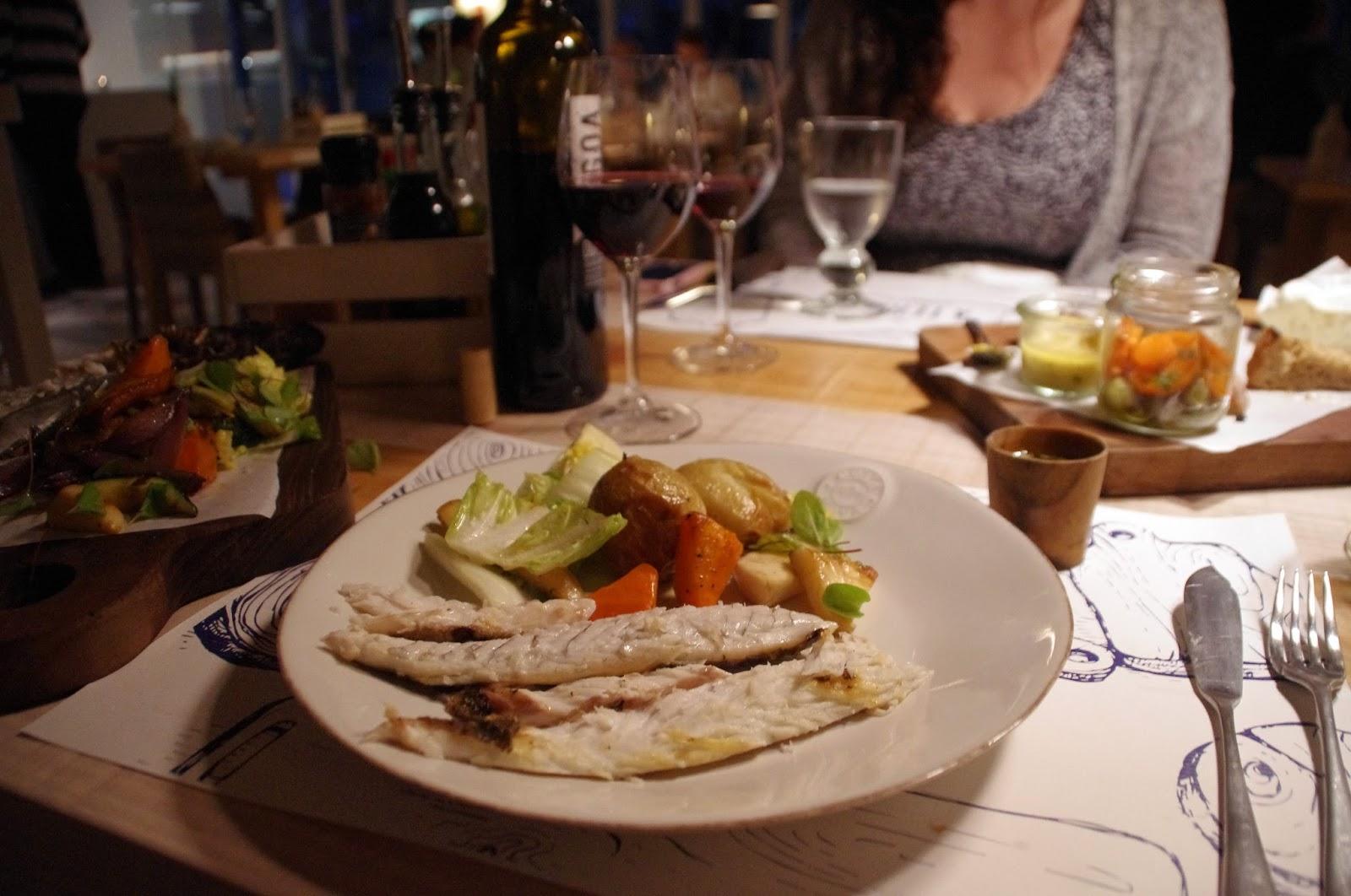 Seabass main at À Terra Restaurant Vila Monte Portugal