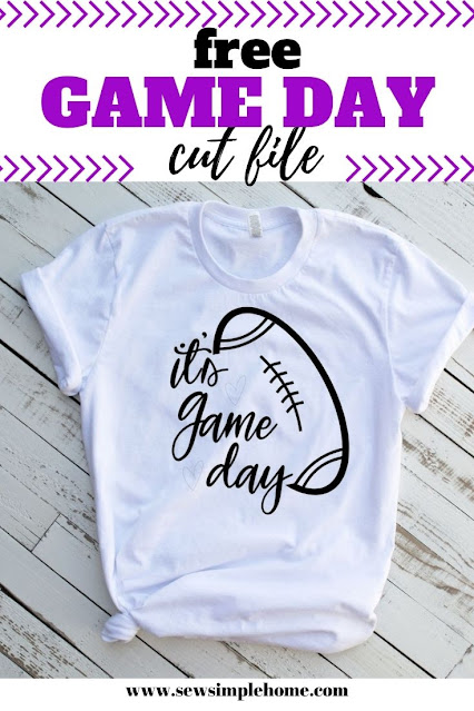 Show your team spirt with this free game day SVG cut file.