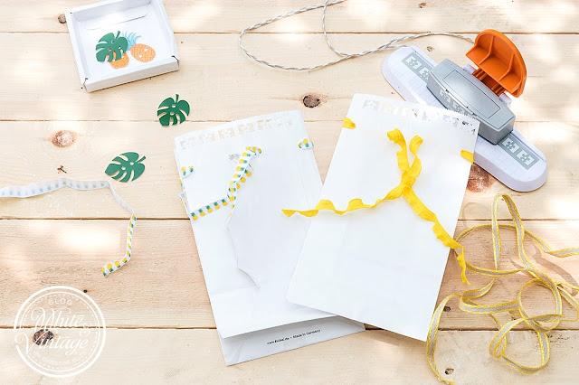 DIY Papiertüten als Blumenvasen