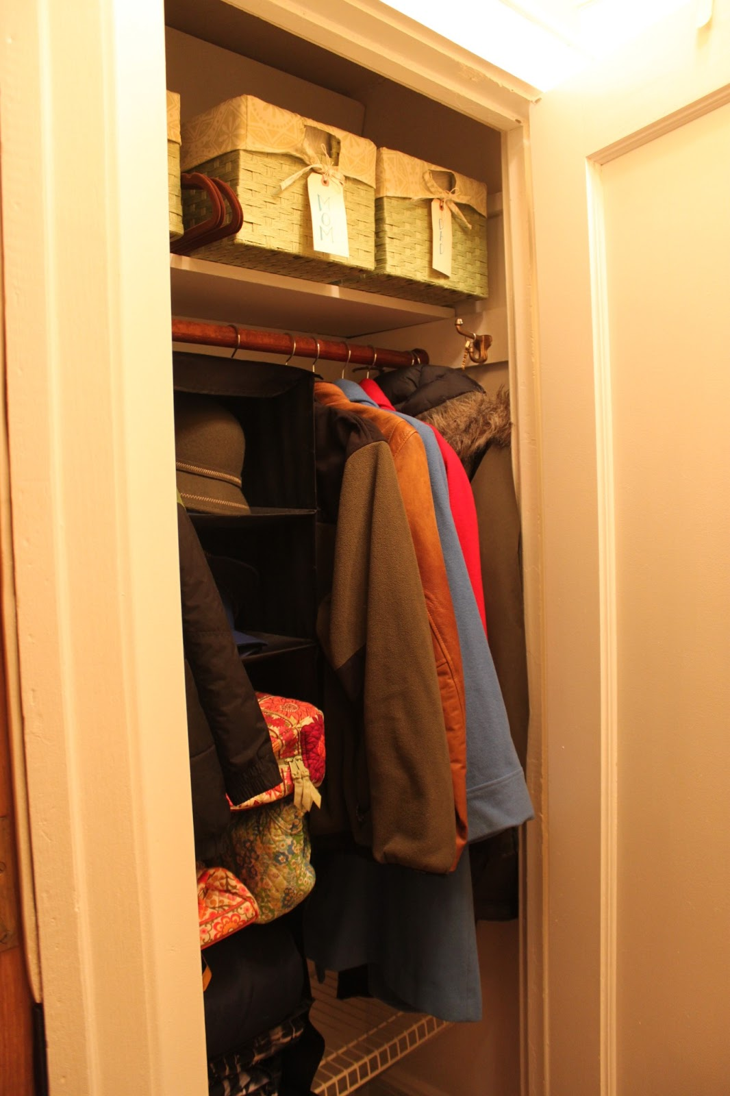 My Great Challenge Coat Closet Organization And Hall Makeover