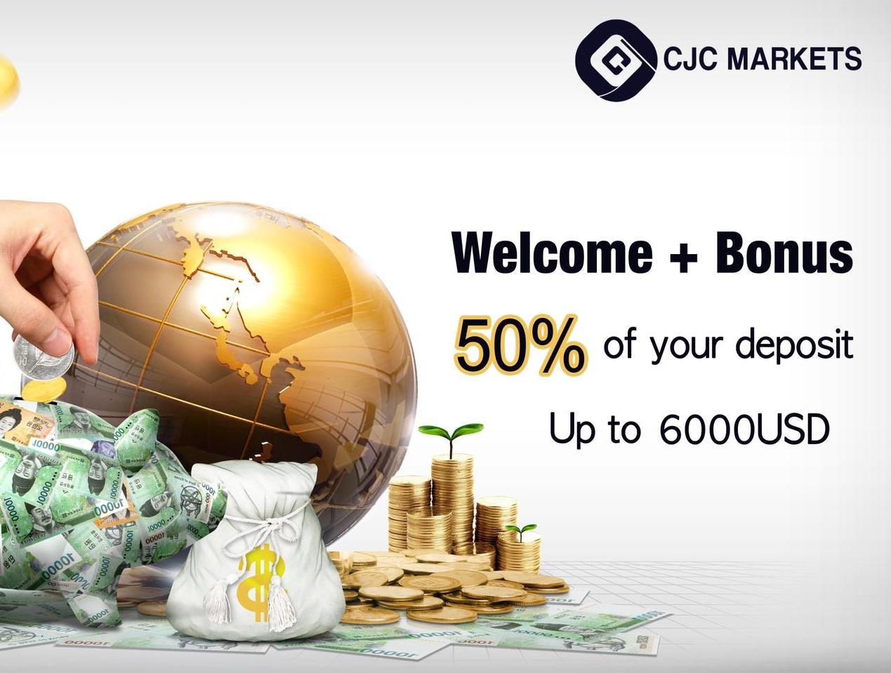 Bonus Deposit CJC Markets 50%