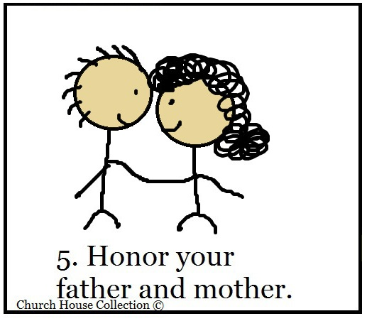 Church house collection blog ten commandments sunday for Honor your father and mother coloring page