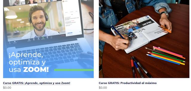 cursos gratuitos productividad y zoom