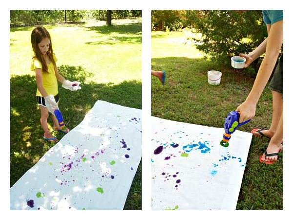 Tie Dye Technique: Bubble Blower So easy even the kids can do it!
