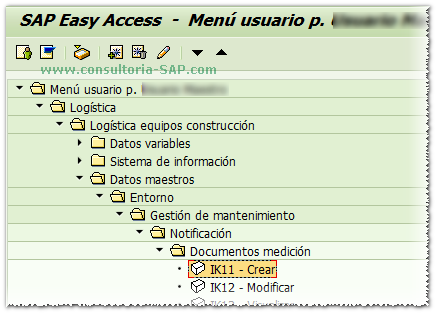 Menu de Usuario SAP