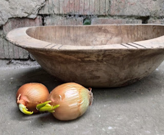 vintage tapered dough bowl