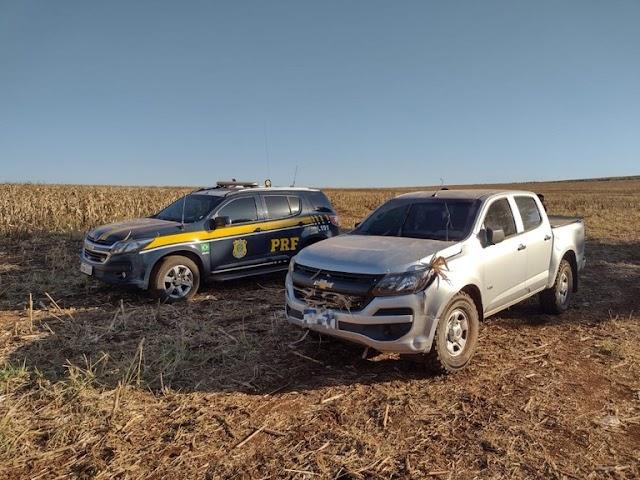 PRF apreende maconha e recupera caminhonete em Campo Grande (MS)