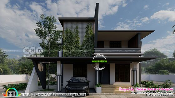 Green house design contemporary style