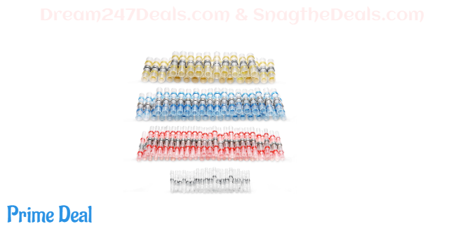 40% off 120Pcs Solder Seal Wire Connectors, Easy To Connect Wire To Repair Car,Boats,Appliances,Phone Cables - A Great Gift For Father (only Size: Medium - 120PCS)