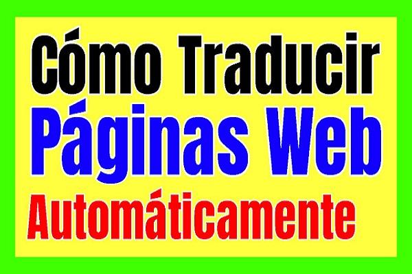 traducir paginas web del ingles al español