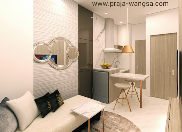 Interior Design Kitchen Apartemen Prajawangsa City