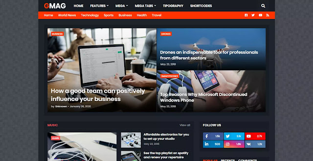 GMag Blogger Template Download, download premimum template 2021, SEO boost templates,free and premium blogger template,free blogger templates