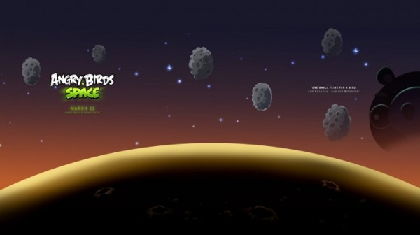 Angry Birds Space Asteroids Desktop Wallpaper