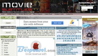 Situs Download Subtitle Bahasa Indonesia Terpopuler, Terbaik dan Gratis