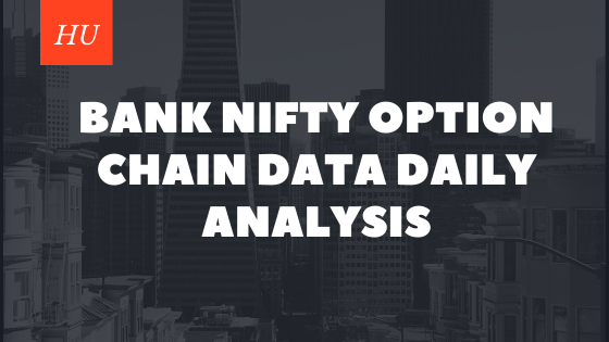 Bank nifty option chain data daily analysis