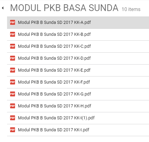Download Modul PKB Bahasa Sunda File PDF